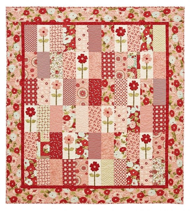 Cute baby quilt idea....rectangles