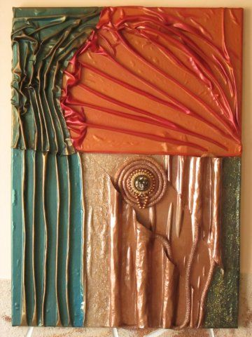 Textilszobrászat - Mach Márti - Textilképek
