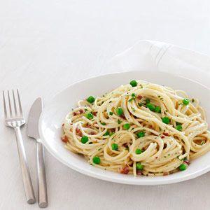 Spaghetti Carbonara Recipe - Restaurant redo - like Cheesecake Factory but 450 cals per servings