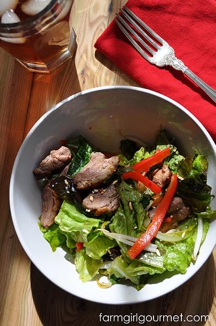 Emeril's Wok Seared Duck Salad @FarmGirl