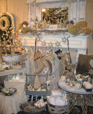"Winter White Wonderland | Patina Green :: Visual/Christmas Display ""Goodies"" everywhere ..."