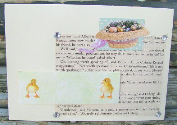 Easter Hat  handmade card FWB easter card by RogueKissedCraft