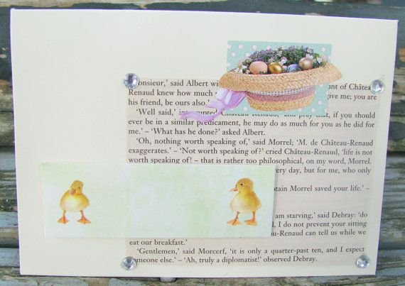 Easter Hat  handmade card FWB easter card by RogueKissedCraft