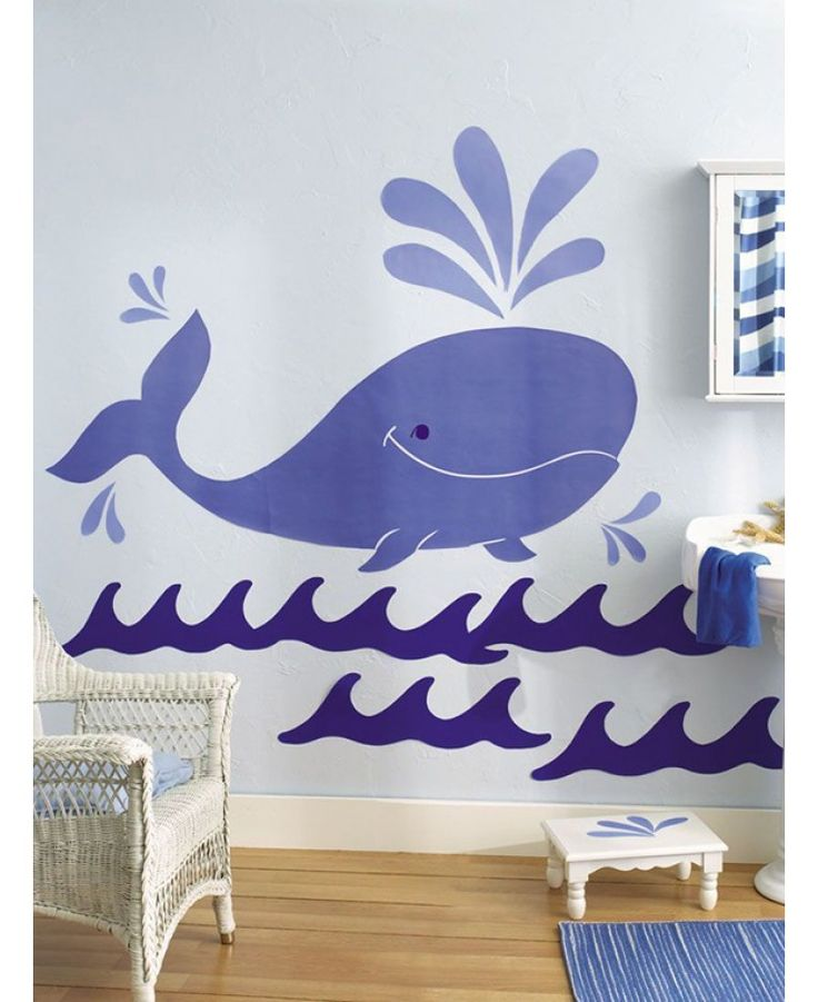 Wallies Big Murals Whimsical Whale is ideal for those who would like a ocean themed bedroom or bathroom.