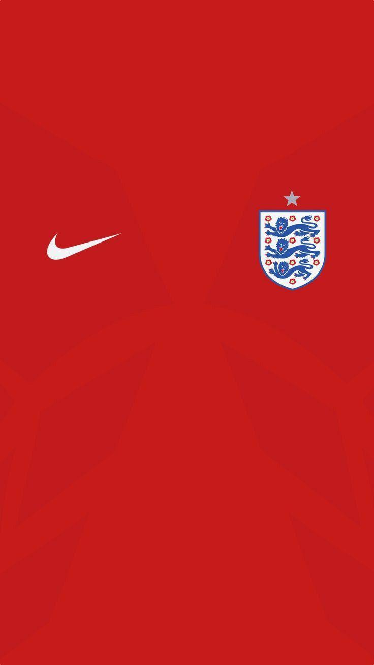 Red England Away Shirt Wallpaper In 2020 England National Football Team England Football Team England Football Jersey