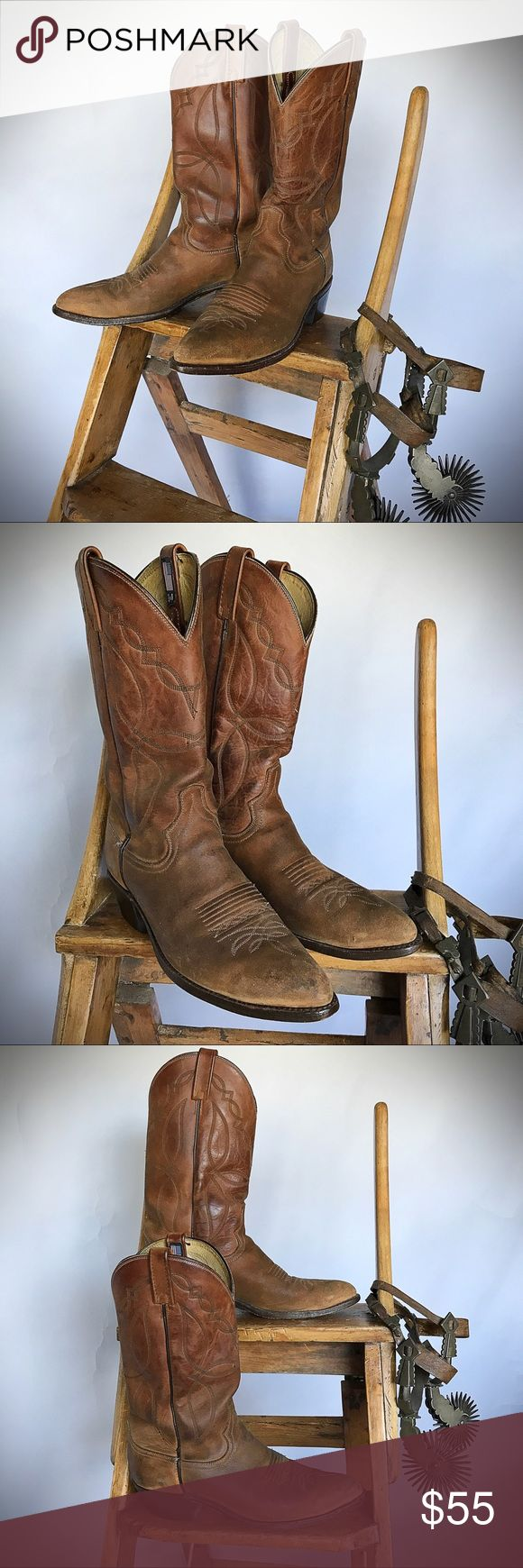Dan Post Roughout Boots Great pair of roughouts from my husbands collection of cowboy boots.  Perfectly broken in Dan Post boots in size 9D Dan Post Shoes Cowboy & Western Boots
