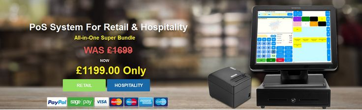 Wowpos introducing new POS system for retail and hospitality, All in one super bundle WAS £1699 Now only £1199. Hurry up--->goo.gl/k0yExW