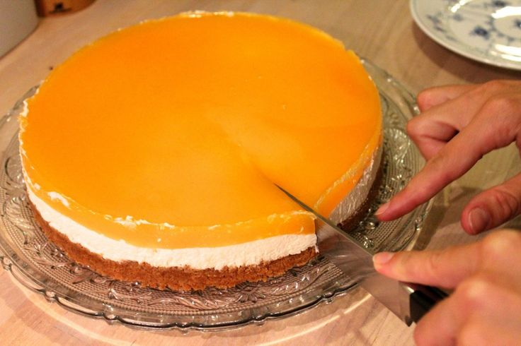 Cheesecake med havtorngele