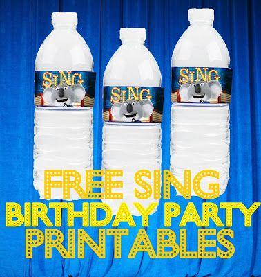 Free Sing Movie Birthday Party Printable Files Kids