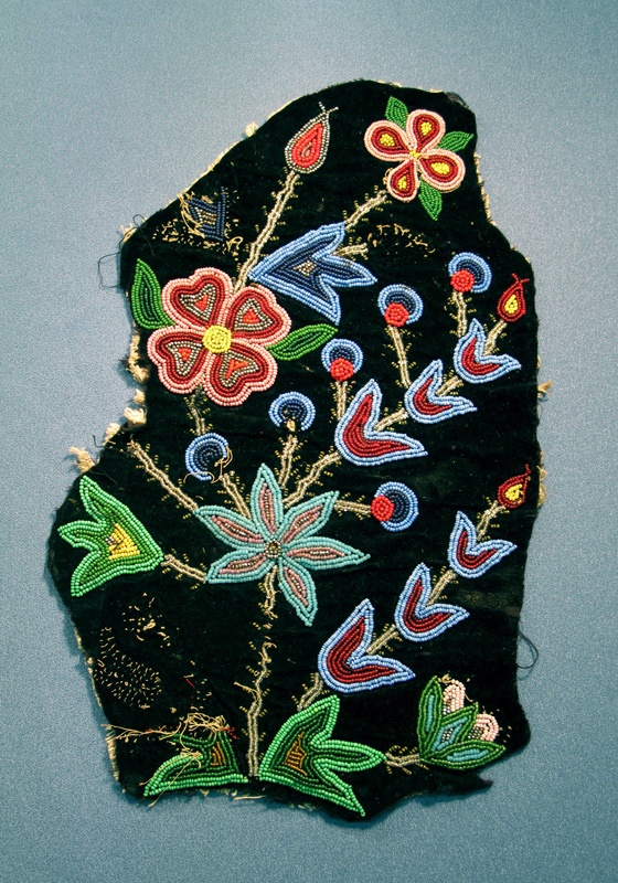 Musée Héritage Museum: June 2012 Fragment of a vest possibly beaded by Victoria Calihoo
