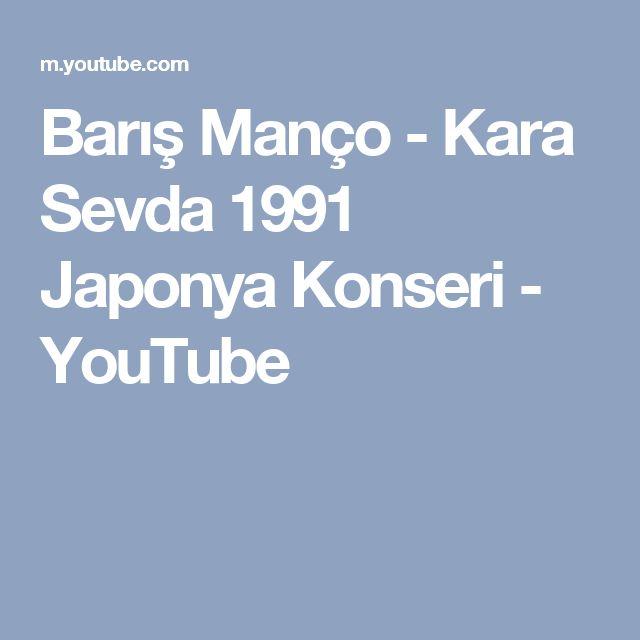 Barış Manço - Kara Sevda 1991 Japonya Konseri - YouTube