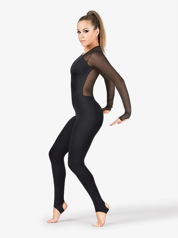 Adult Plunging Powermesh V-Unitard in 2020 | Dance fashion ...
