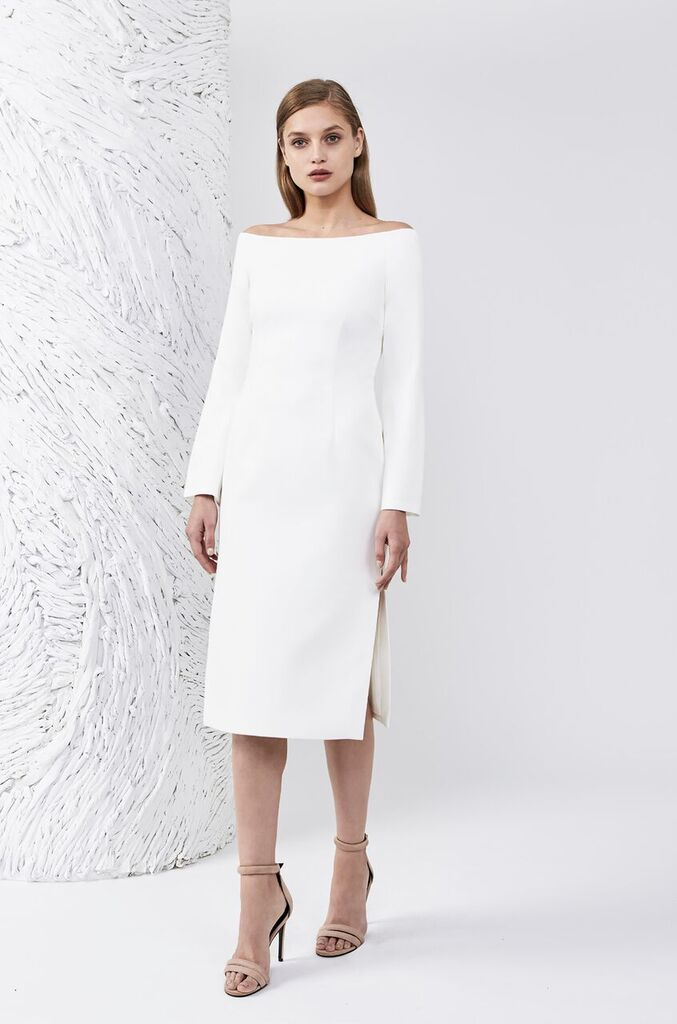 Keepsake - Heartlines Long Sleeve Dress - Ivory