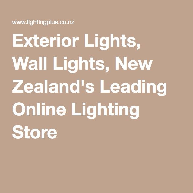 Exterior Lights, Wall Lights, New Zealand's Leading Online Lighting Store