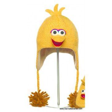 Big Bird Pilot Hat: http://www.dannabananas.com/big-bird-pilot-hat/