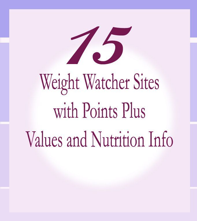 Weight watchers websites with points plus