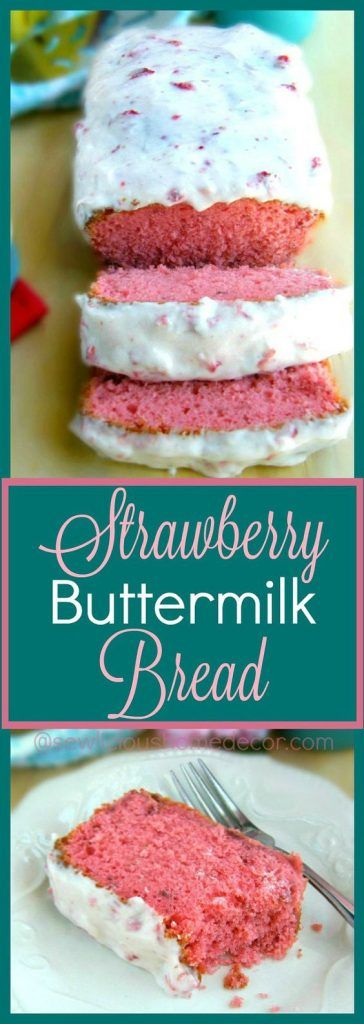 Best Homemade Buttermilk Strawberry Cake with Strawberry Cream Cheese Icing 5 mins to make, makes 1 loaf
