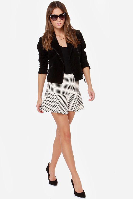 Hip-Notize Me Black and Cream Mini Skirt at LuLus.com!