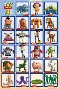Póster Toy Story 3. Personajes