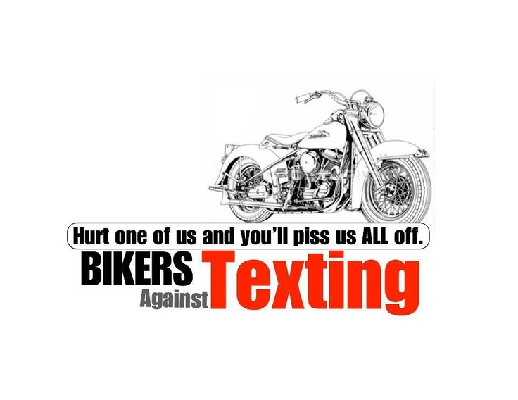 Bikers Against Texting.