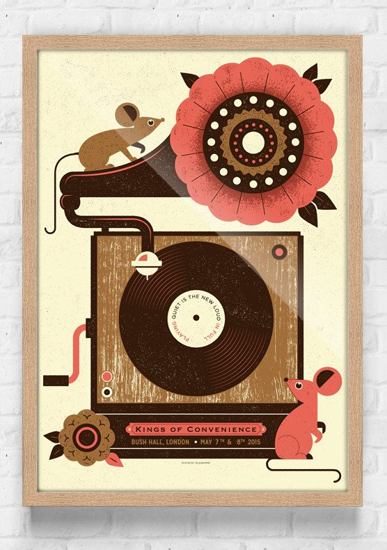 Kings of Convenience Screenprinted Gig Poster by Telegramme