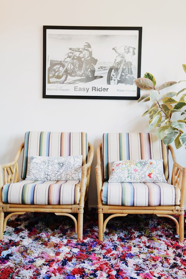 Little Nicki's happy and relaxed boho home. Lauren Bamford / Jason Grant.