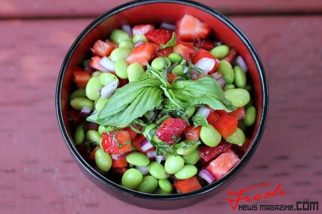 Edamame Salad with Strawberries and Basil | Fresh news Magazine. Thats all you need