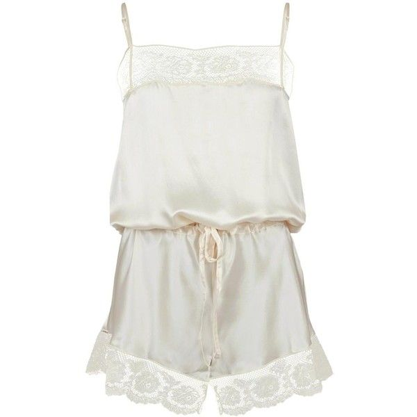 Ale Viva Lace Playsuit (3 980 ZAR) ❤ liked on Polyvore featuring jumpsuits, rompers, playsuits, sleepwear, dresses, sexy romper, white romper, white lace rompers, sexy lace jumpsuit and jumpsuits & rompers