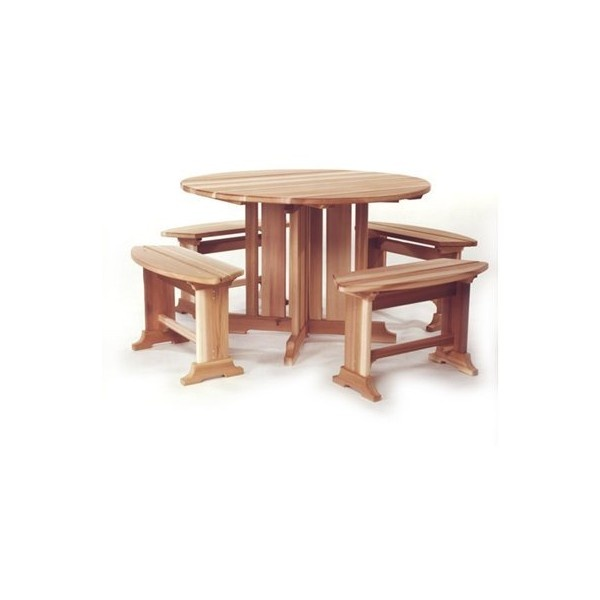 all things cedar round picnic table 2