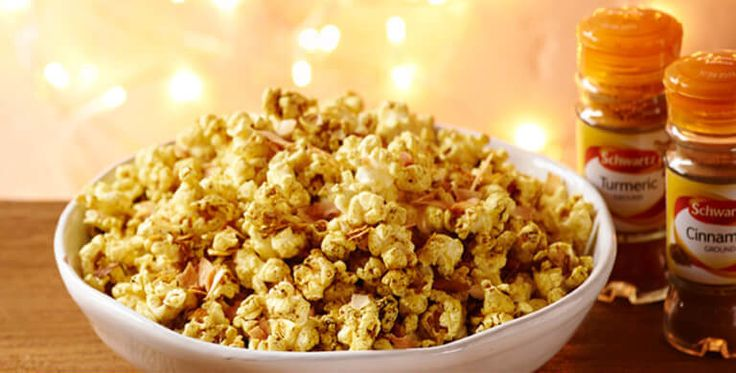 Popcorn is the perfect finger food for parties and this vibrant Cinnamon spiced coconut popcorn is a winner. Try it now