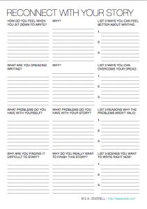 ❤ You can use this writing worksheet to figure out why you abandoned a writing project, and how you can rekindle your love for it.
