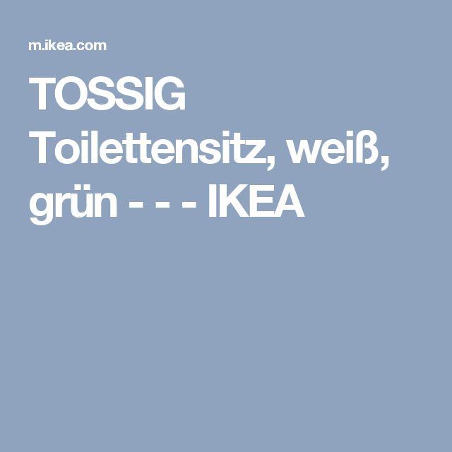 TOSSIG Toilettensitz, weiß, grün - - - IKEA