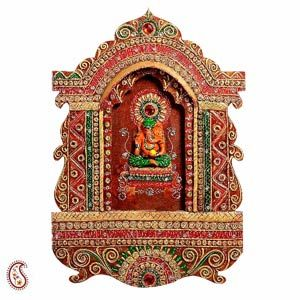 Elaborate Jharokha with Ganesha in Wood and Clay Decorate any wall with this elaborate ethnic jharokha like wall sculpture featuring Lord Ganesha in earthy tones. Rs. 1,875 ($30.73) http://www.tajonline.com/diwali-gifts/product/d3773/elaborate-jharokha-with-ganesha-in-wood-and-clay/?aff=pint2013/