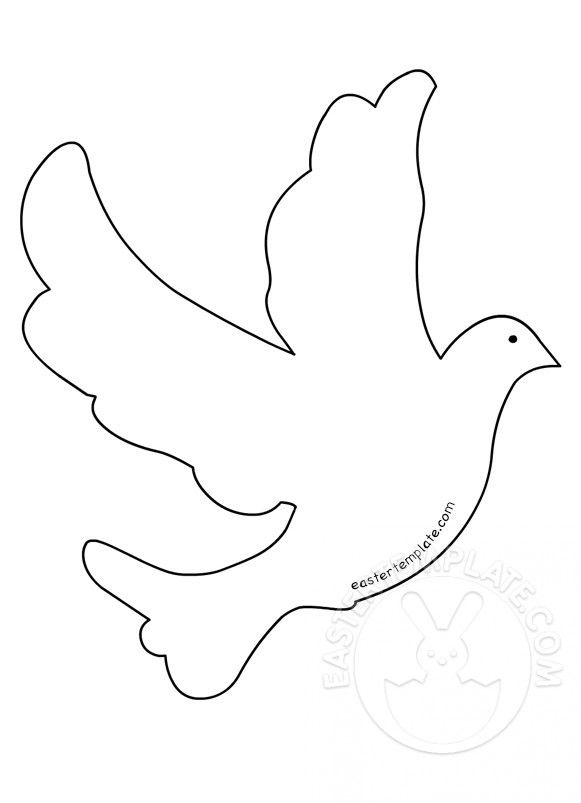 Flying Dove Bird Shape Dove Bird Bird Template Easter Templates