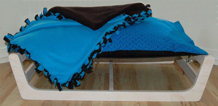 Lounge Bed for Dogs (or Cats) with Cushion and Blanket - Bespoke furniture and furnishings for the discerning pet by The Dog and Cat Pad.