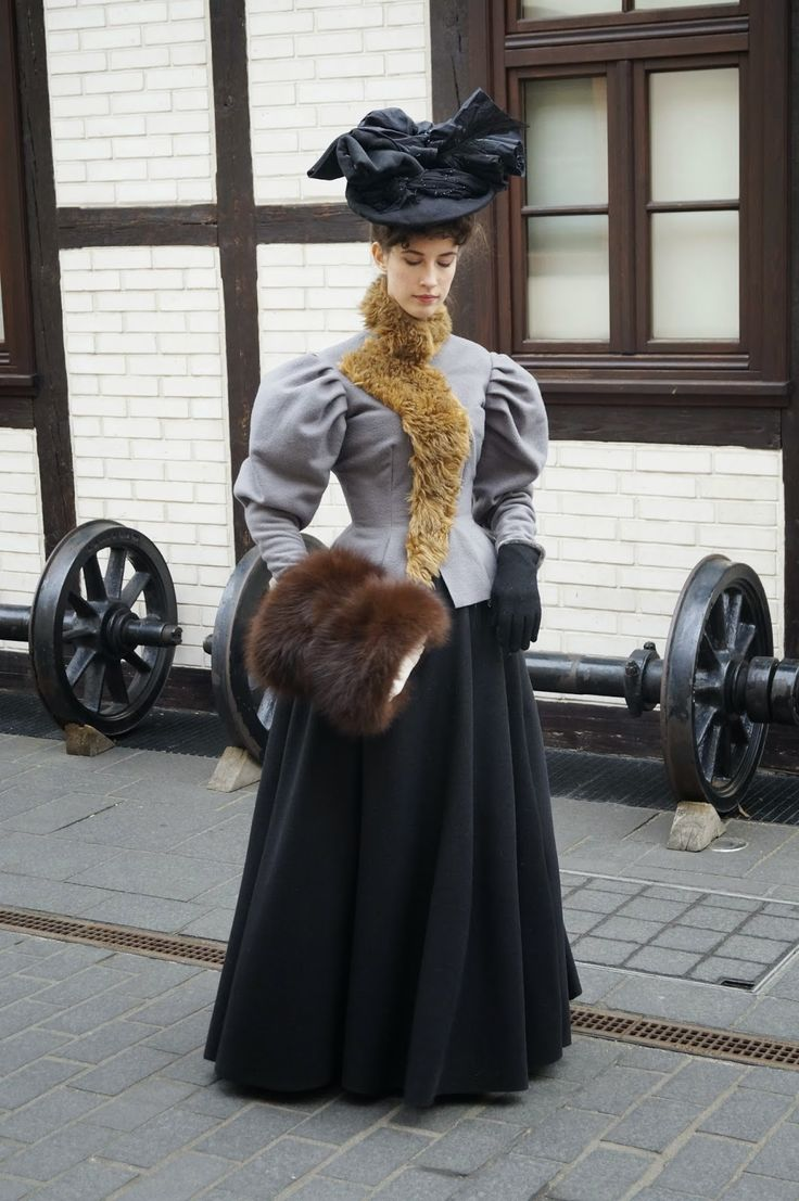 .:Domowa kostiumologia:.: zimowy ubiór prosto z 1895 roku / 1895 winter attire