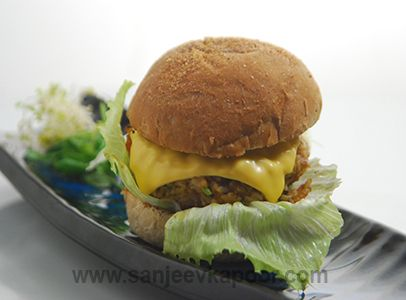 Leftover Chana Chawal Burger Recipe