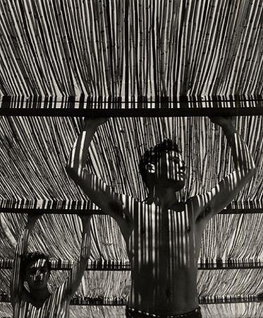 Herbert List, Young Man Under Reed Roof, Torremolinos, 1951