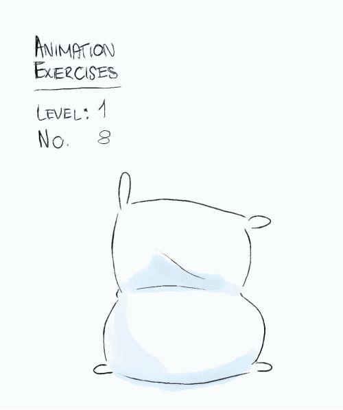 """Ejercicio de animación: Nivel 1 No. 8 """"saco de harina que se agita"""""""