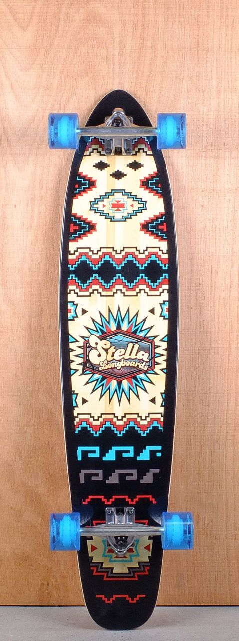 "Stella Prebuilt 42"" Kicktail Santa Fe Bamboo Longboard Complete Bottom"