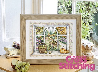 Autumn window cross stitch design by The World of Cross Stitching, via Flickr