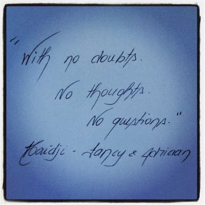 Haidji: Doubts - Book Quote - Fancy & Adriaan - Haidji