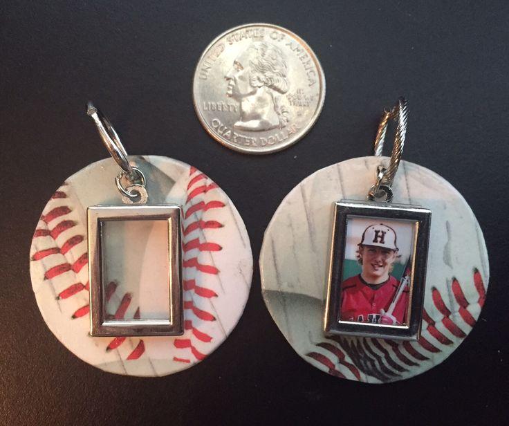 picture frame baseball pendant