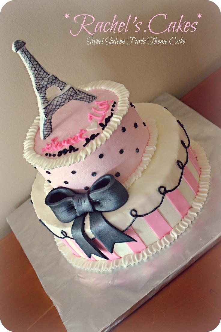Paris themed birthday party ideas - Paris Themed Sweet Sixteen Cake