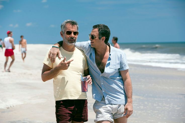 (L-R) Joe Mantello and Mark Ruffalo in 'The Normal Heart.' (HBO)