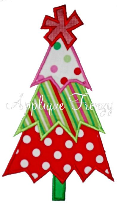 Whimsy Zig Zag Christmas Tree Applique Design