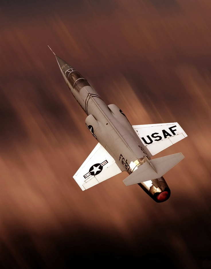 F-104 Starfighter, more a piloted missile than a traditional plane.
