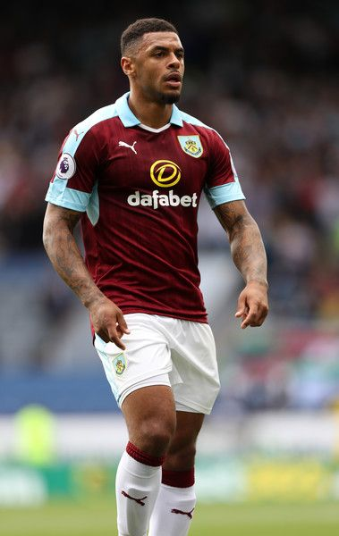 Andre Gray of Burnley during the Premier League match between Burnley and…