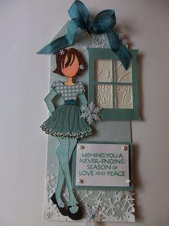 Julie Nutting Doll Stamps - Prima Marketing | Wendy Schultz - Prima - Julie Nutting Doll Stamps.