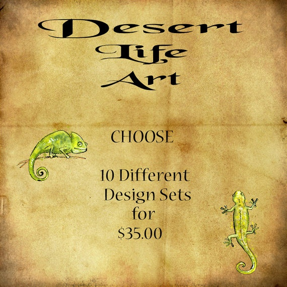 DISCOUNT BUNDLE  Choose 10 Different Designs Sets by DesertLifeArt, $35.00